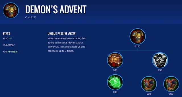 demons advent adalah item terbaik untuk johnson