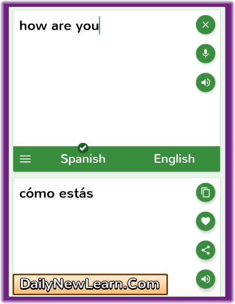 Translate english to Spanish to English | free online