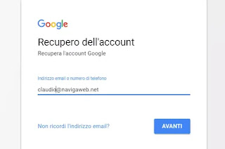recupero account google