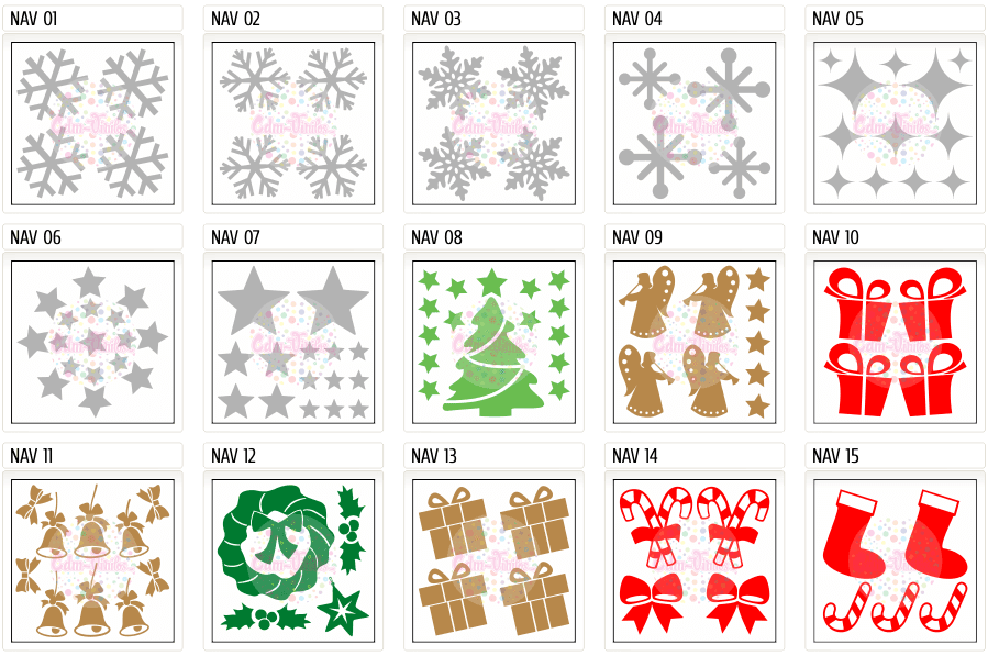 Planchas de vinilo autoadhesivo de Navidad