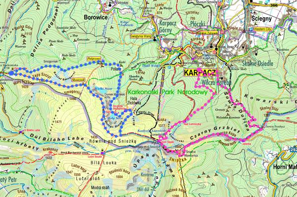 szlaki Karkonosze mapa