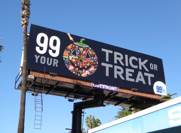 99c Jack O Lantern Trick or Treat Halloween billboard