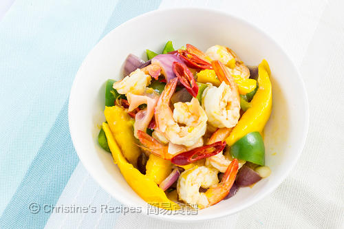 芒果炒蝦球 Stir Fried Prawns with Mango03