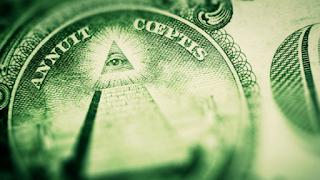 Símbolo maçom na nota do dólar