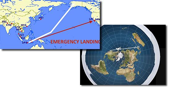 Teoria da Terra plana ganha força na internet -Rotas de aviões suspeitas