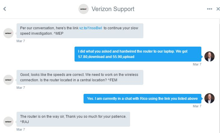 verizon chat support is available