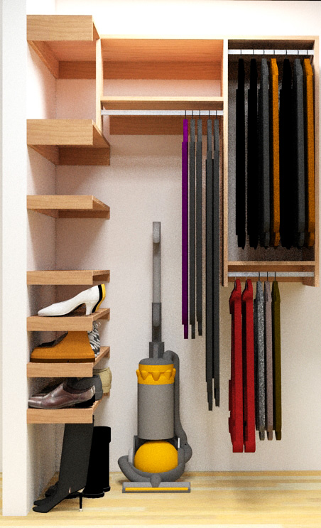 Step In Closet Organizer Plans