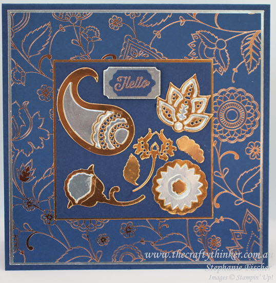 Stampin Up, #thecraftythinker, Holiday Catalogue Sneak Peek, Paisleys & Posies, Masculine card, Stampin Up Australia Demonstrator
