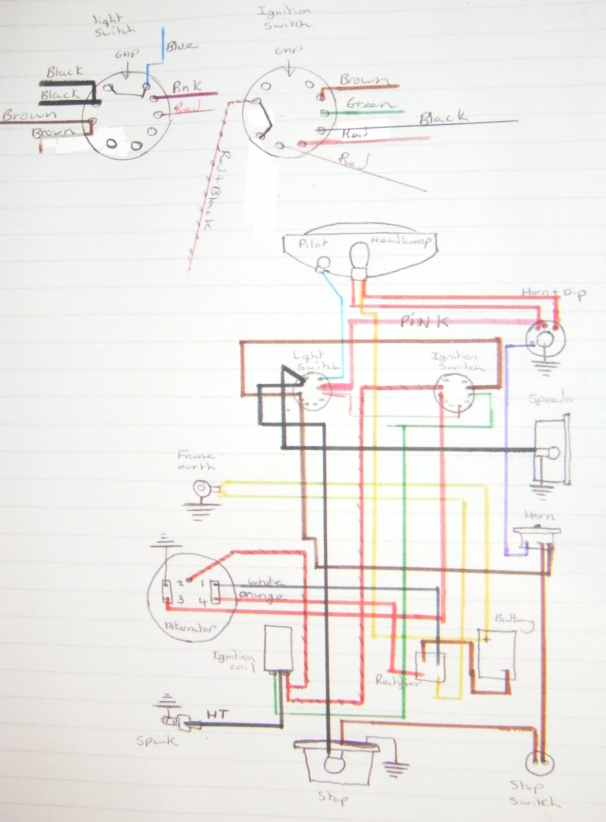 my bsa bantam d7 wiring diagram triumph chopper wiring diagram bsa wiring diagrams [ 1181 x 1600 Pixel ]
