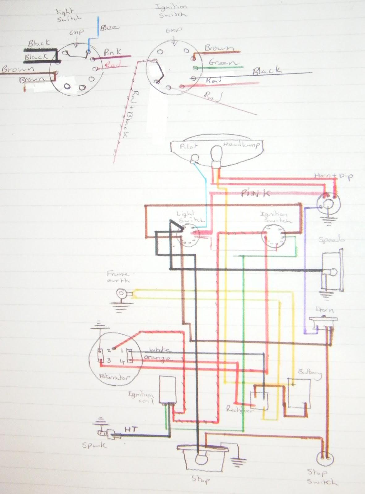 my bsa bantam d7: wiring diagram