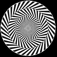 Geométrico redondo preto e branco em PNG