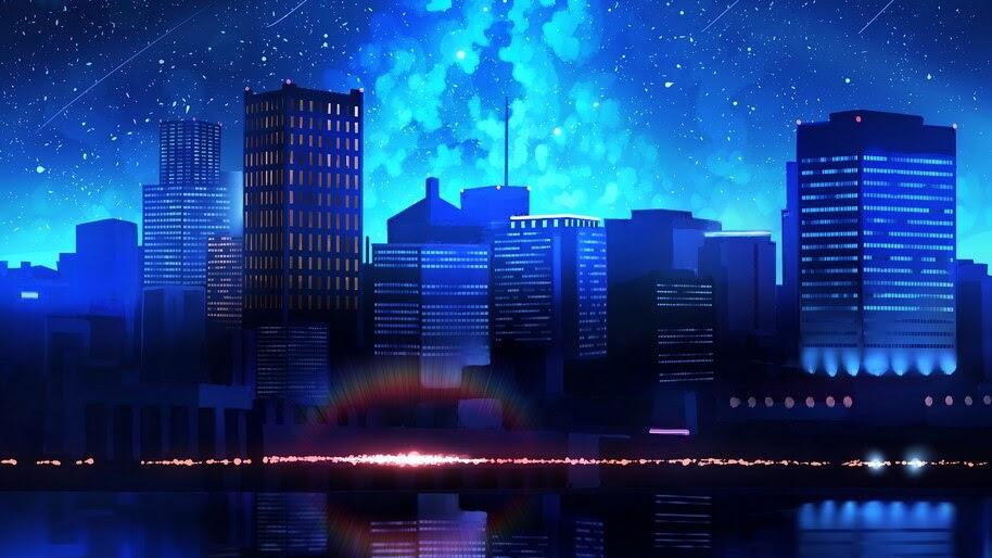 Night, City, Digital Art, Illustration, 4K, #4.2021