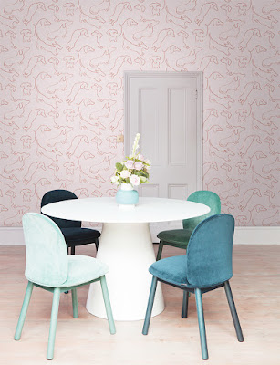 Graham-and-Brown-sausage-dog-design-wallpaper-in-pink-room-lifestyle-shot