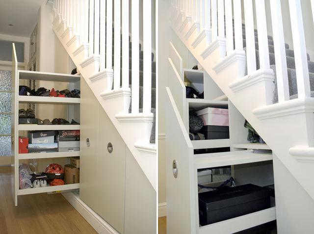 15 Creative and Clever Under Stair Storage Designs.