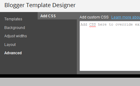 edit blogger template css