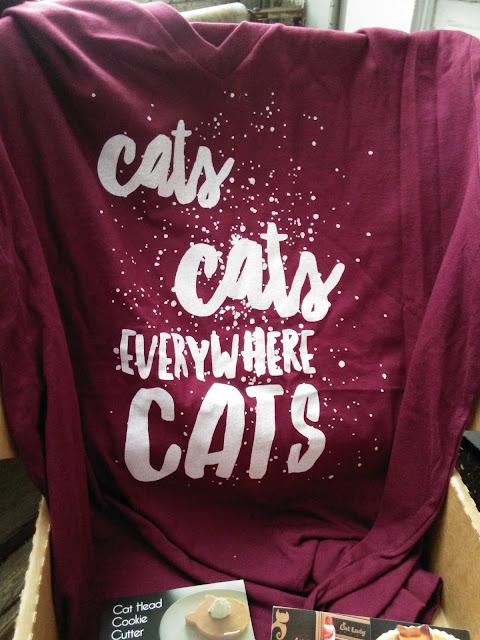 Cats Everywhere t-shirt
