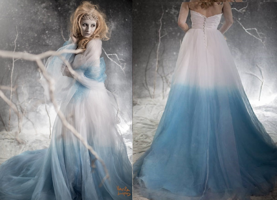 Winter Wonderland Ombre Blue Gowns | wedding gowns