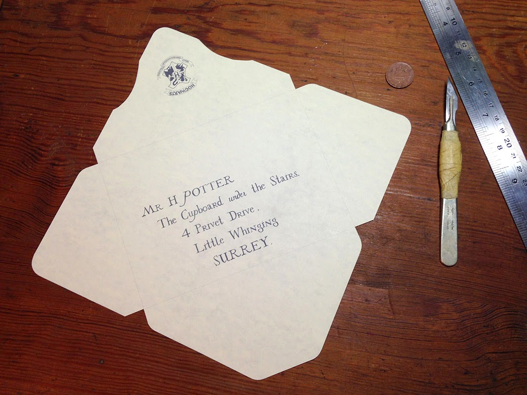 It is a photo of Challenger Harry Potter Envelope Template Printable