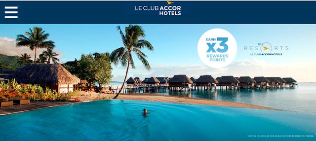 入住Accor雅高澳大利亞、斐濟、紐西蘭、法屬波利尼西亞的度假村可享3倍積分(12/31 前)