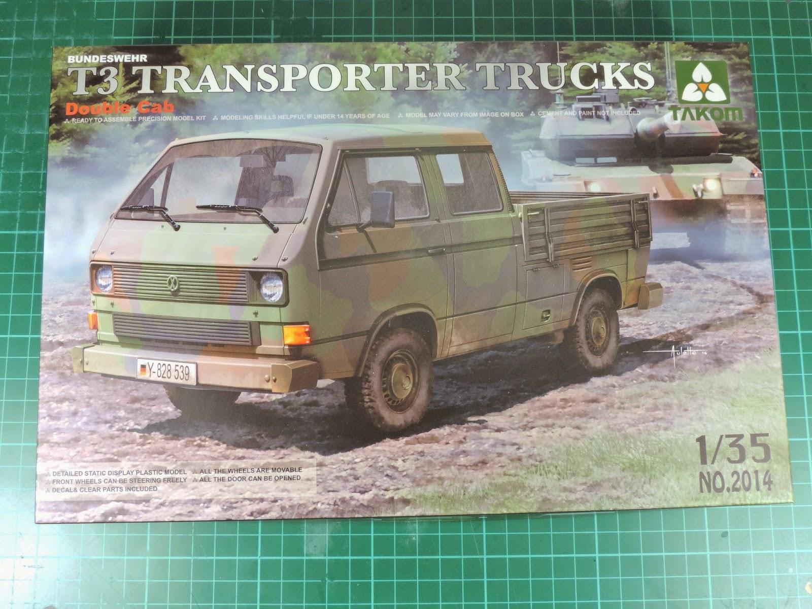 Pete's Model World : Takom 1/35th T3 Transporter Trucks In