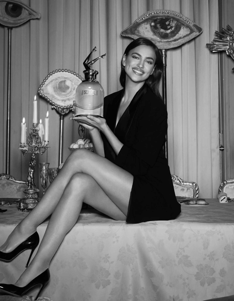 Irina Shayk stars in Jean Paul Gaultier Scandal a Paris fragrance campaign