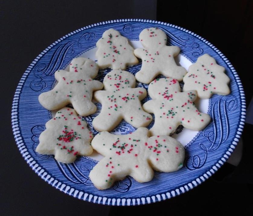 Special Sugar Cookies on a Plate