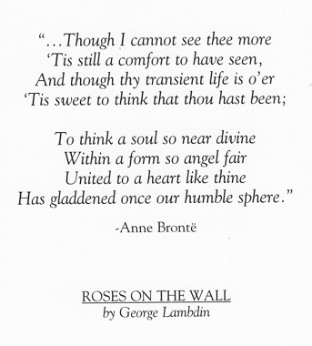 POEM PRESENTED ON THE BACK OF THE SYMPATHY CARD