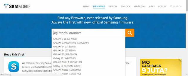 Tempat Firmware Samsung