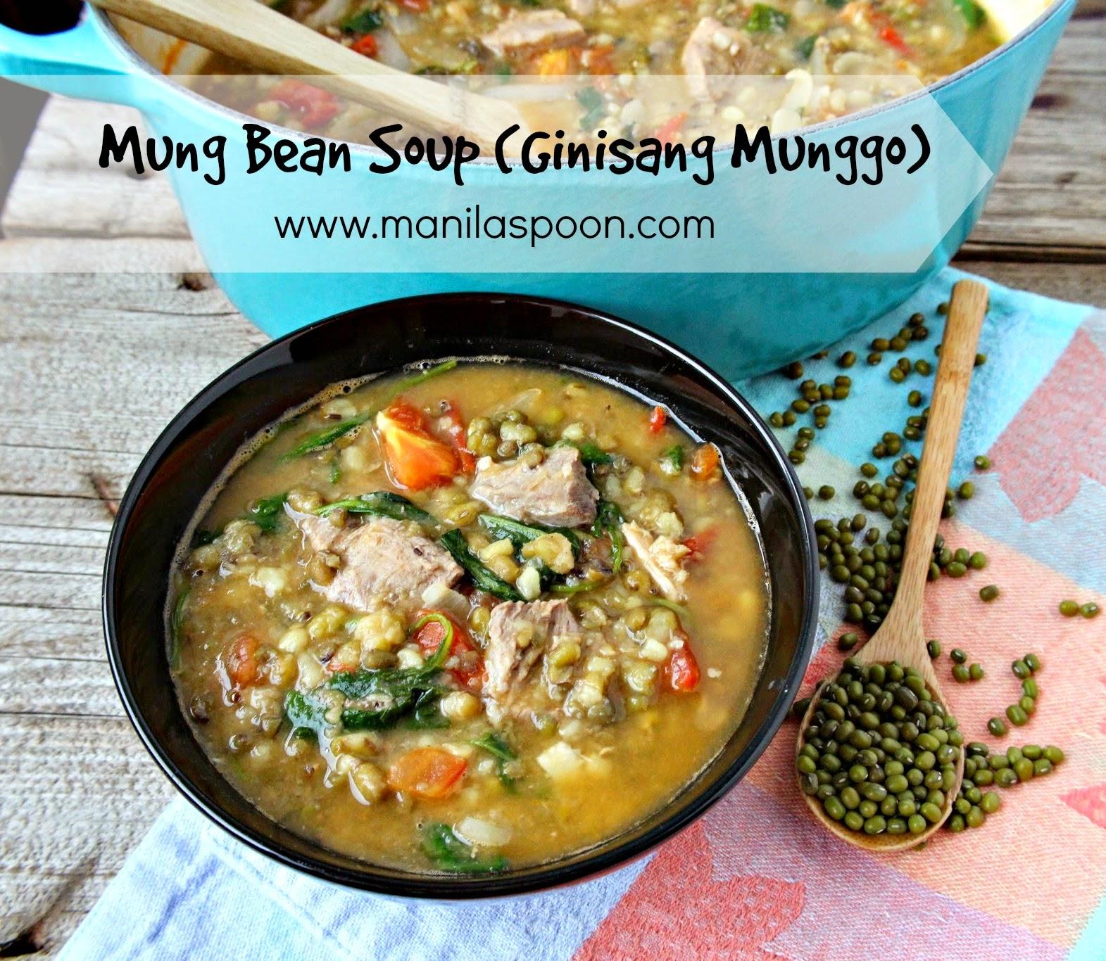 Ginisang Munggo (Mung Bean Soup / Stew)