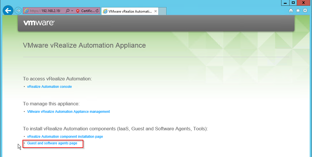 vcloud director appliance download
