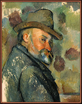 Self-Portrait with a Hat. Cézanne