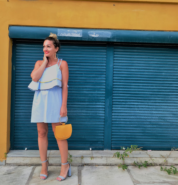 Celine bag, what to wear with mustard yellow, how to wear baby blue color, summer outfit inspiration, schutz shoes, best canadian fashion bloggers, best of streetstyle, best wearable style, affordable fashion blogger, moda blogerke, fashion blogger