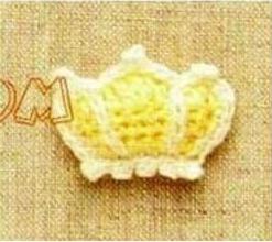 Patrón #1300: Figura de Corona a Crochet