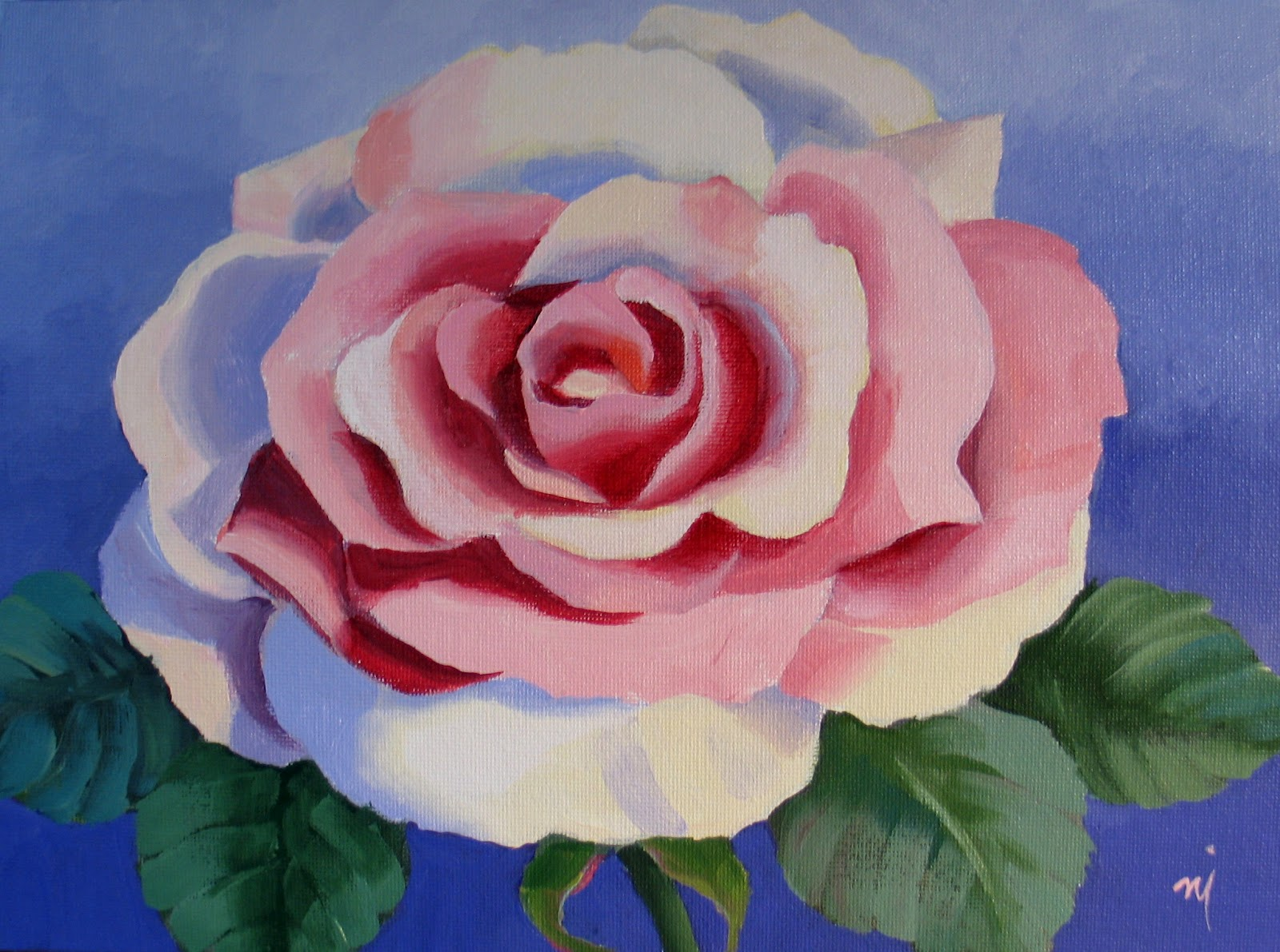 Nel's Everyday Painting: Roses: Searching for Simple - SOLD