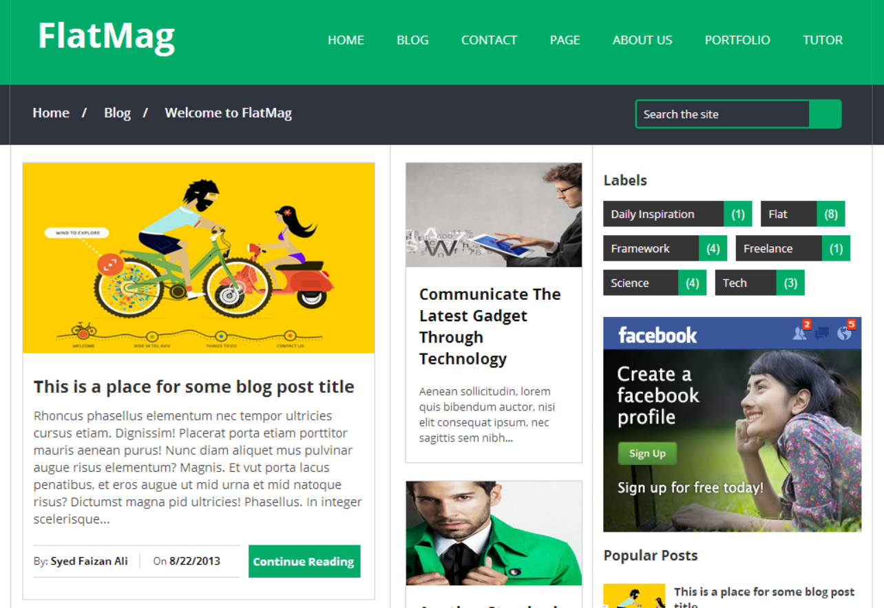 Top 10 best blogger templates of 2014 available online for How to create blogspot template