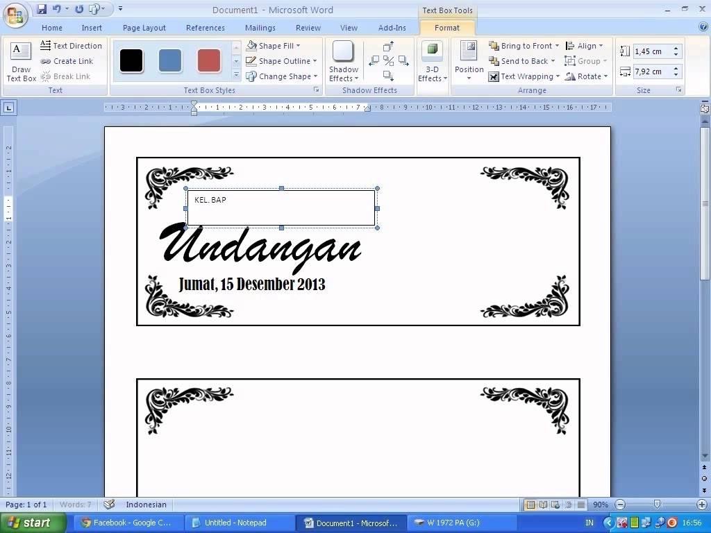Cara Mudah Membuat Contoh Undangan Pernikahan Sederhana Dengan Word