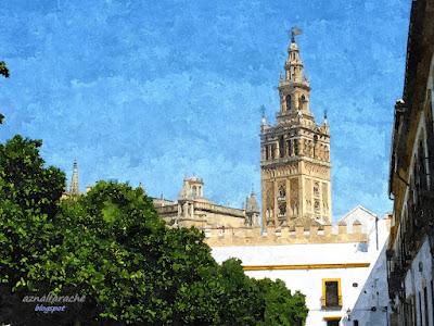 Sevilla - La Giralda desde el Patio de Banderas