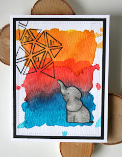 Using Distress Reinkers to Create a Vibrant Watercolor Background by Jess Gerstner for Butterfly Reflections Ink