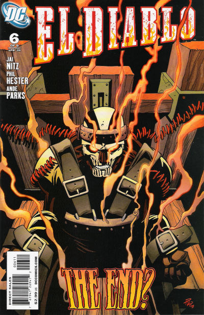cover of El Diablo v3 #6 (2009). Property of DC comics.
