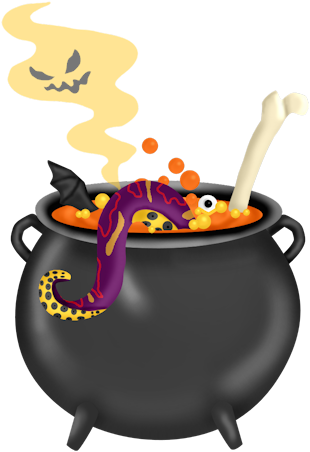 Halloween Cauldrons Clipart Oh My Fiesta In English