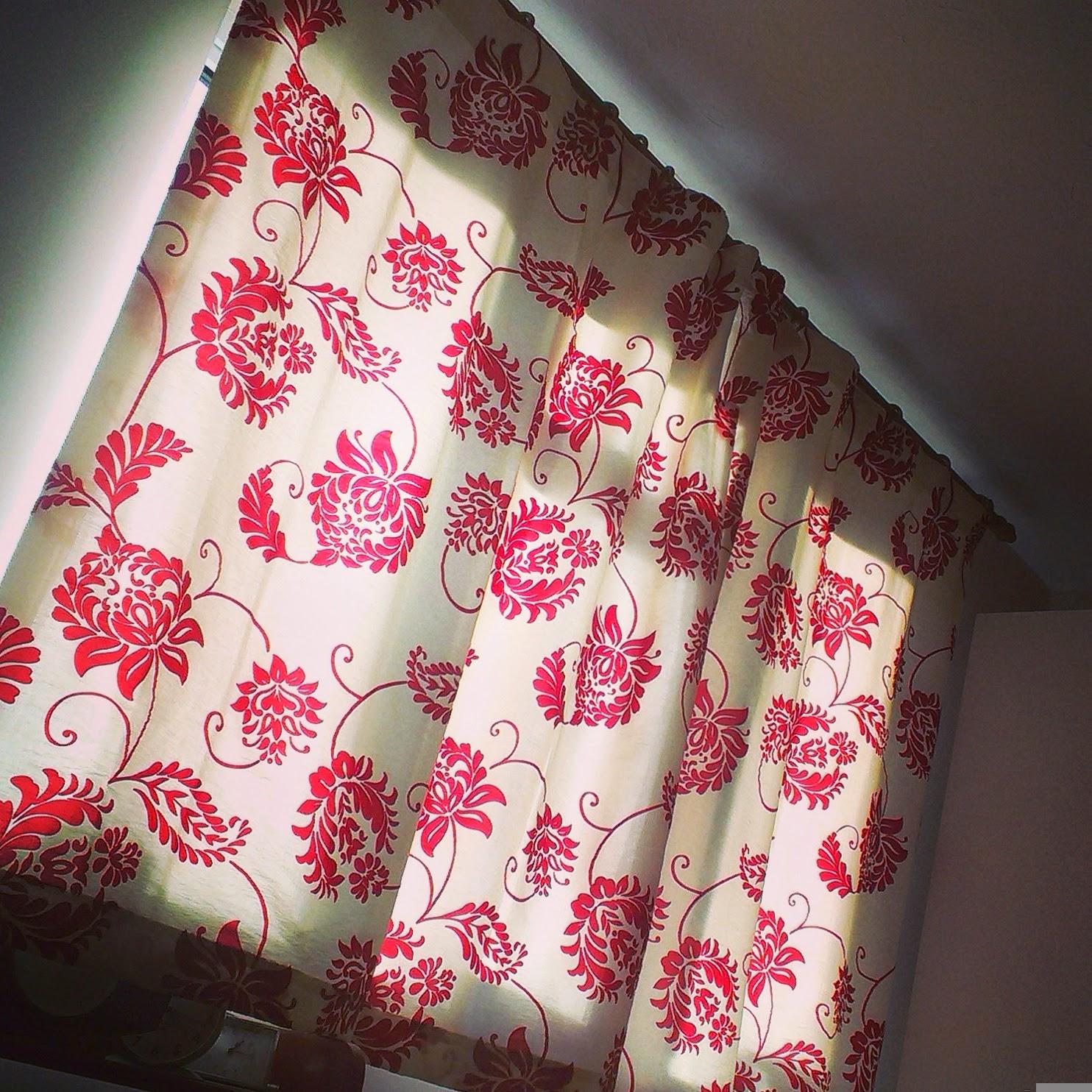 9am - sunshine through the curtains