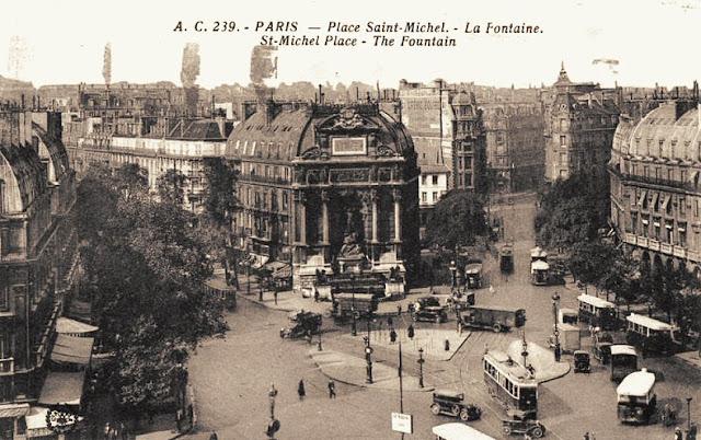 Foto histórica da Place Saint Michel Paris