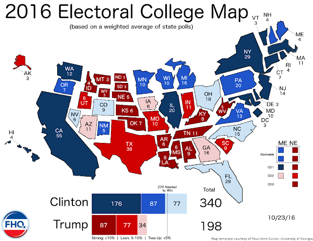 Financial Analysts Election Update Women Are Defeating Donald - 530 us states map polls