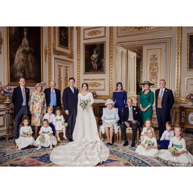 Oficjalne zdjęcia ze ślubu księżniczki Eugenii i Jacka Brooksbanka
