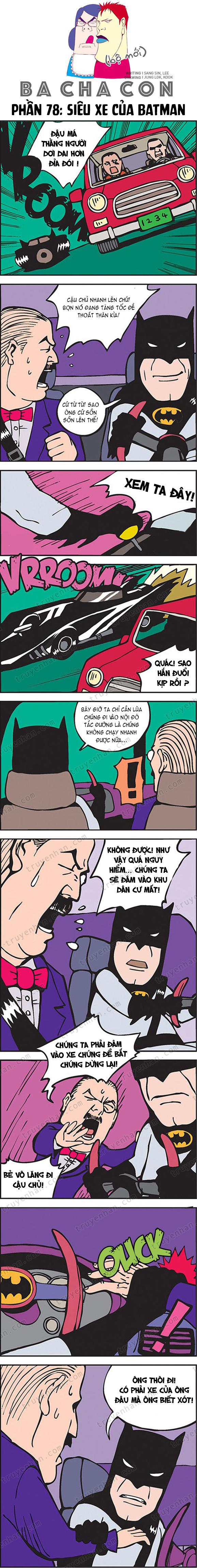 Ba cha con (bộ mới) phần 78: Siêu xe của Batman