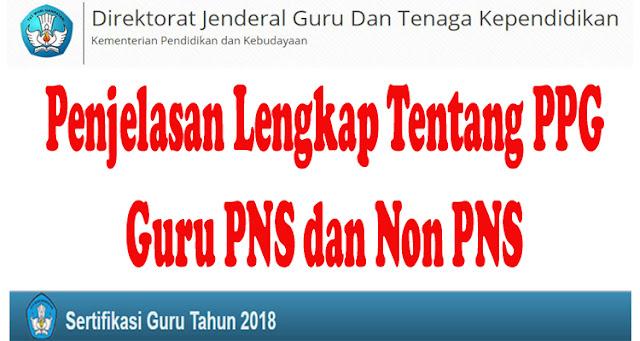 Update Penjelasan Lengkap Tentang PPG Guru PNS dan Non PNS Dirjend GTK Kemdikbud
