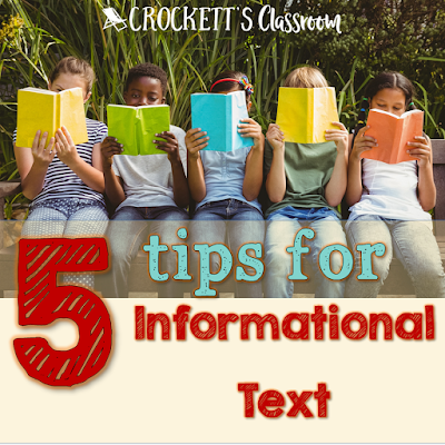 Informational Text, tips for using it in your daily lessons.