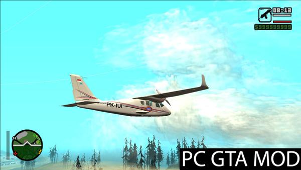 Free Download Bandung Pilot Academy Tecnam P2006T  Mod for GTA San Andreas.