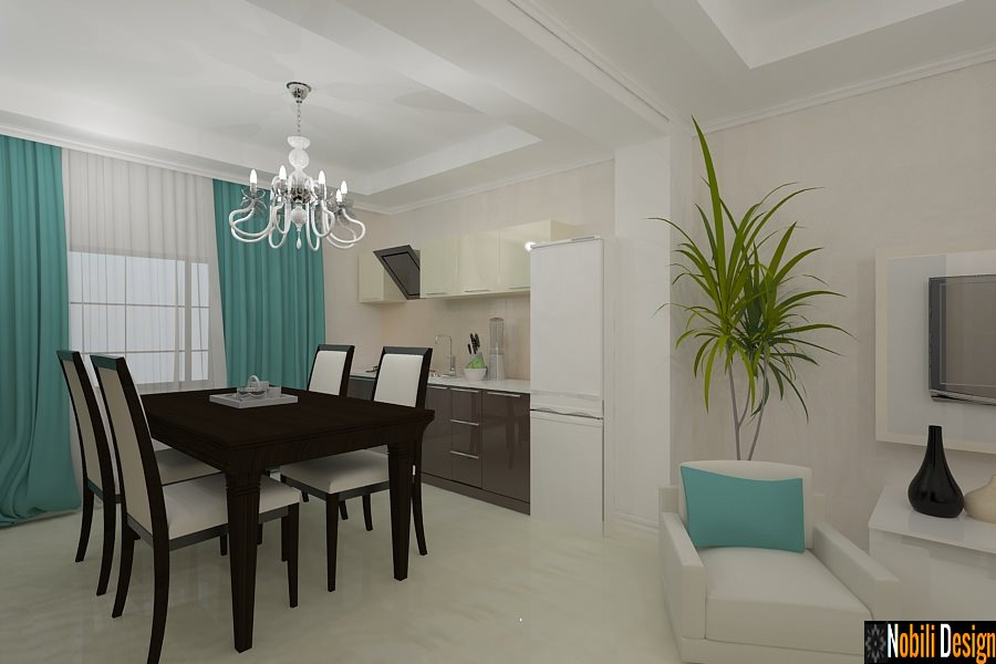 Design interior - living modern apartament 4 camere open space - Bucuresti, Buftea, Bragadiru, Saftica, Pipera