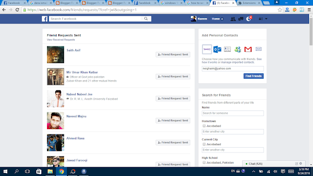 Cancel Friends Request at once  pending request here